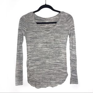 SO • Relaxed V-Neck Long Sleeve Tee